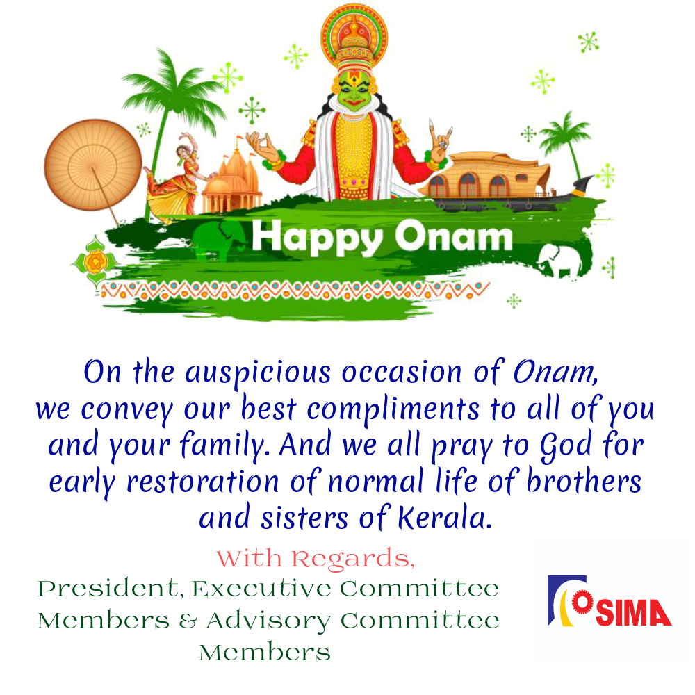 SIMA wishes you and your family HAPPY ONAM