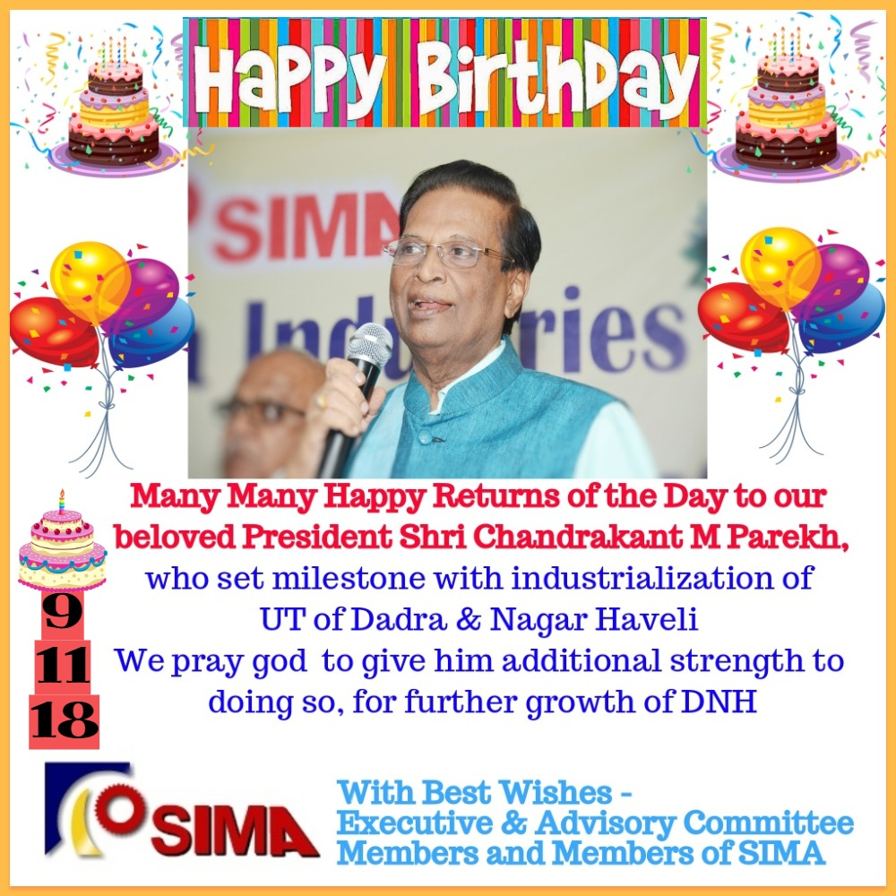 Happy Birthday Shri Chandrakant M Parekh