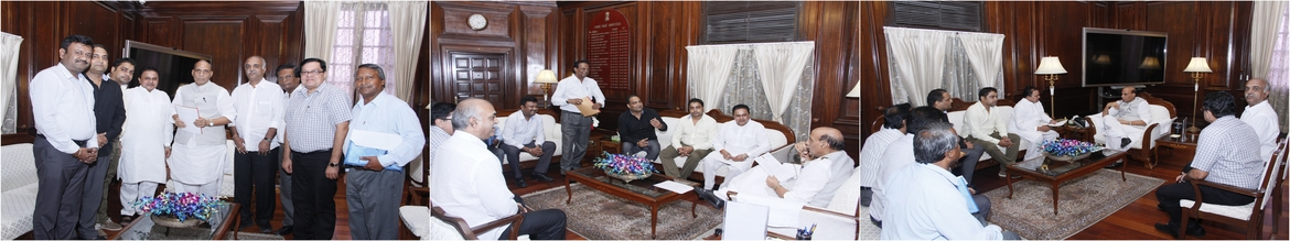 Meeting with Honl. Shri Rajnath Singhji, Representation to Honl. Home Minister of India Shri Rajnath Singhji